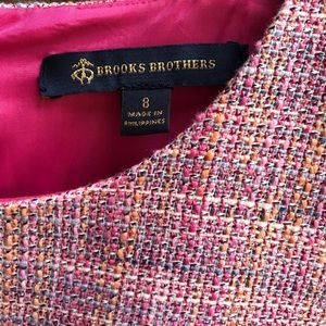 Brooks Brothers Pink Tweed Sheath Dress Lined